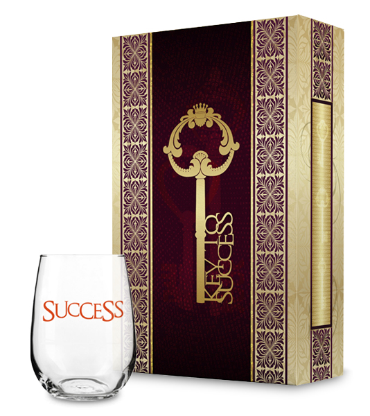 Key to Success and Success Wine Glass Collection