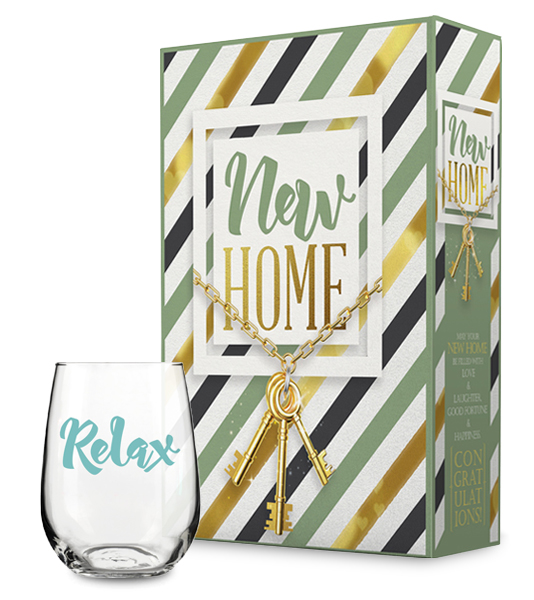 New Home Gift Box and Relax Wine Glass Collection