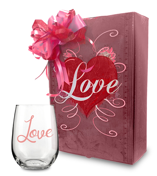 Love Gift Box and Love Wine Glass Collection