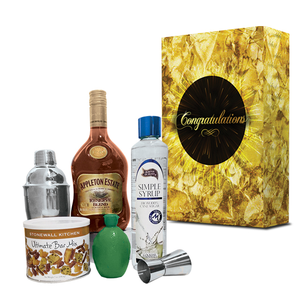 CONGRATS WITH RUM DAIQUIRI COCKTAIL GIFT BOX SET