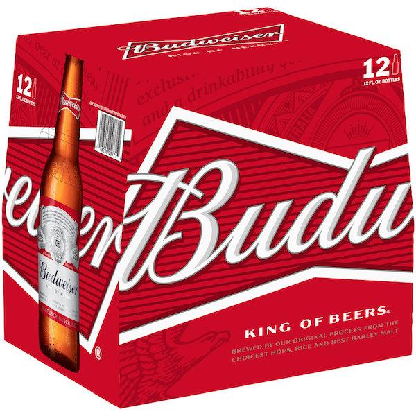 Budweiser 12 Pack 12 Oz Bottles