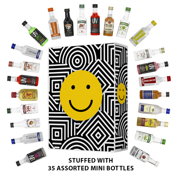 Our Get Happy Gift Box with 35 Assorted Mini Bottles