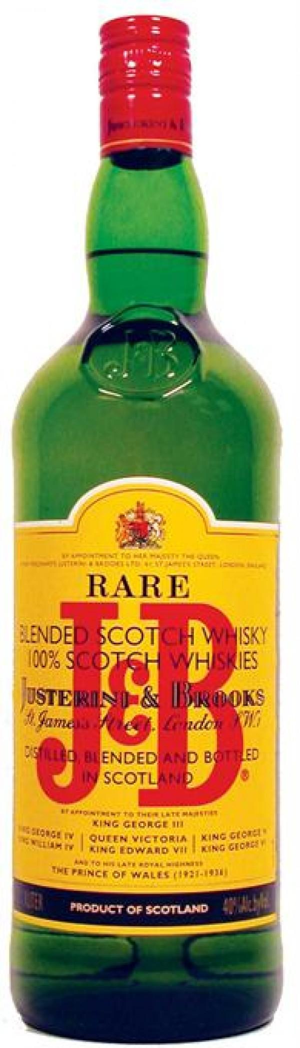 J & B Scotch Rare