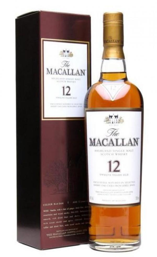 Macallan Scotch Single Malt 12 Year