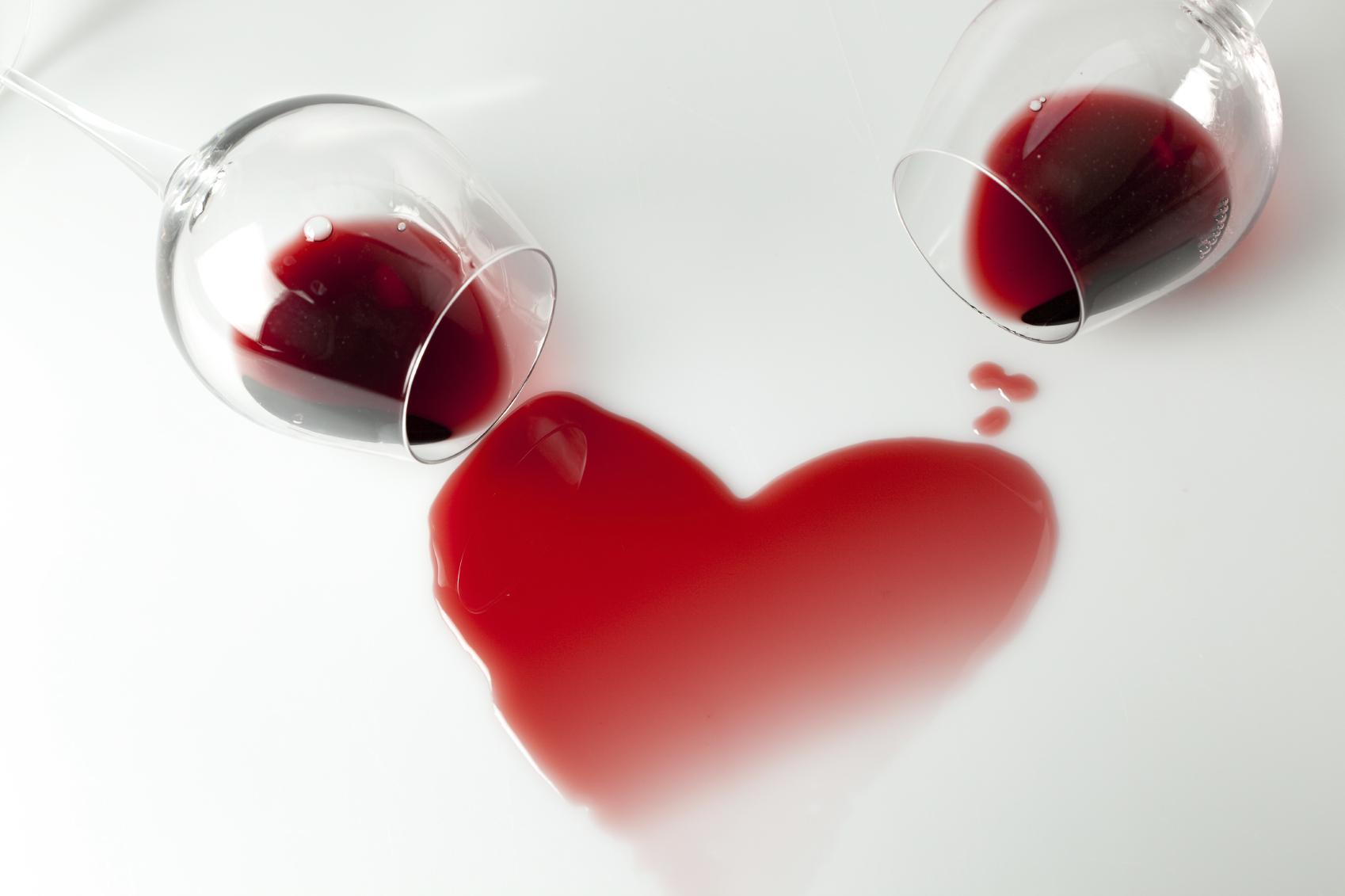 Image result for wine spilled in heart shape